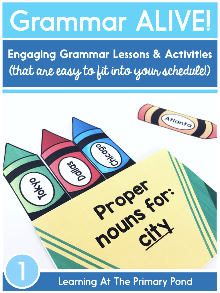 Grammar ALIVE! Engaging grammar lessons and activities for first grade that are easy to fit into your busy schedule.