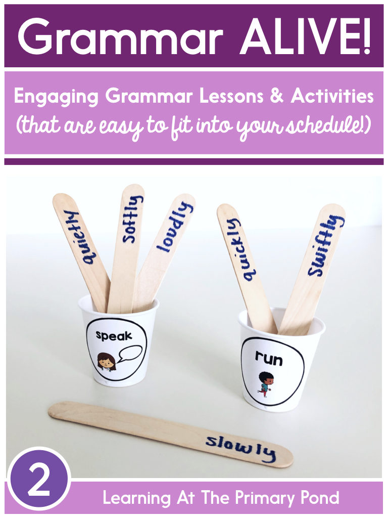 Grammar ALIVE! Engaging grammar lessons and activities for second grade that are easy to fit into your busy schedule.