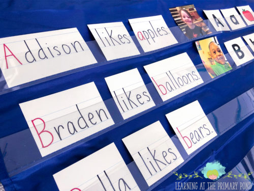Predictable charts are great for Kindergarten (or even preschool or first grade) to teach sight words, alphabet letters, print concepts, and more! Read the post to learn how to create a predictable chart and what to do with it after it's finished (like this pocket chart activity!).