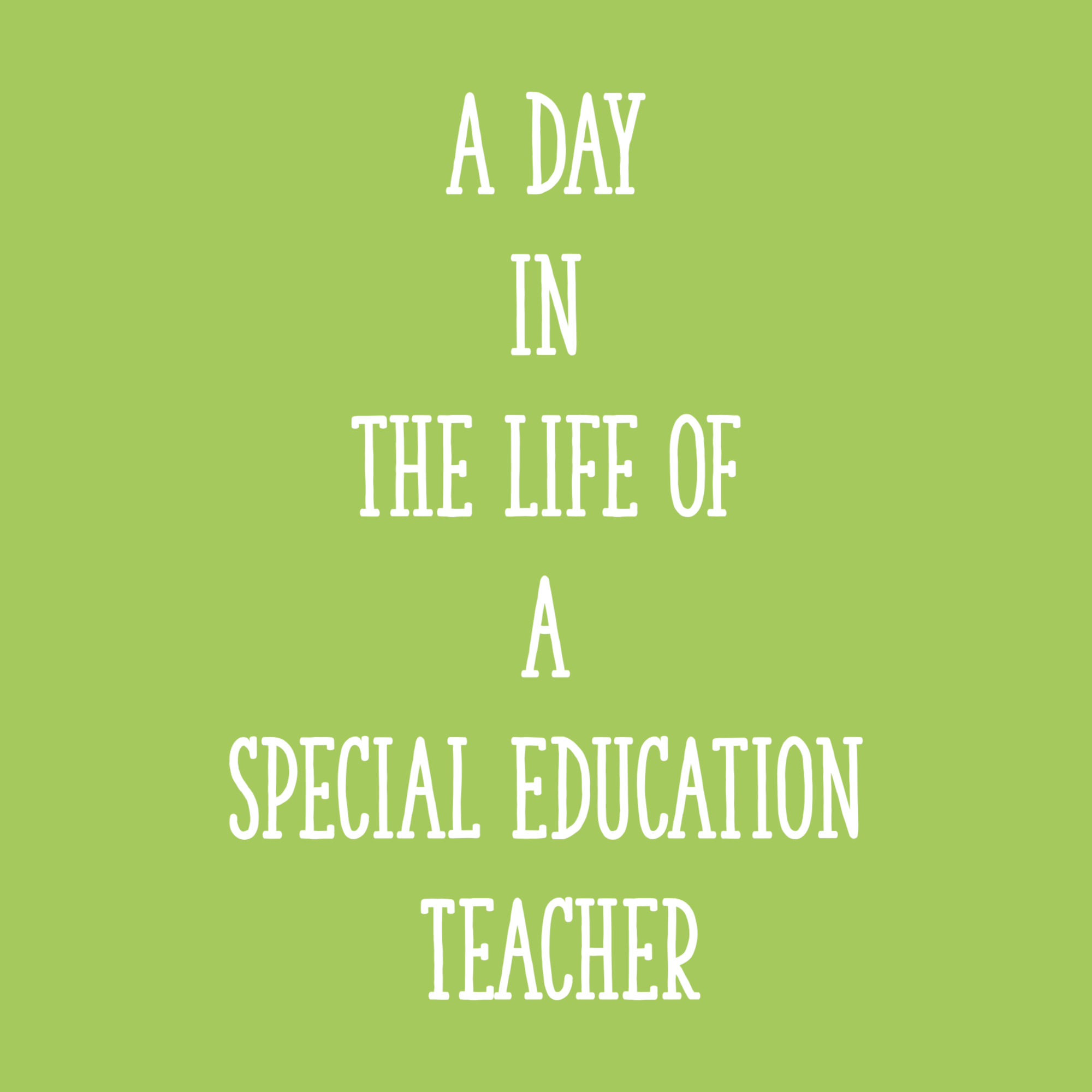 A Day In The Life Of A Special Education Teacher Learning At The Primary Pond