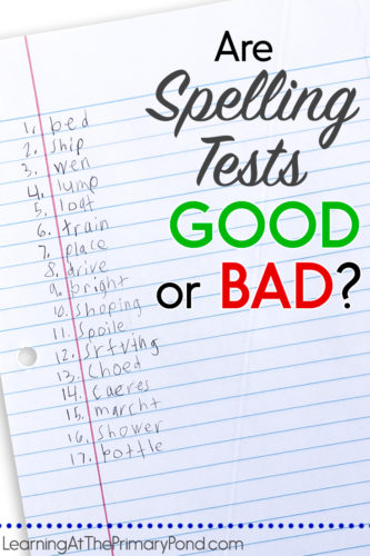 Have you ever been told NOT to give spelling tests? Or heard that spelling tests aren't a good instructional practice? I've heard some misconceptions floating around about spelling tests, so I want to address those in this post!