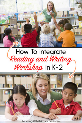 Do you use the reading workshop and writing workshop model in your classroom? You can use both of these models together to save time! Read this blog post for tips about integrating both models in a Kindergarten, first grade, or second grade classroom.