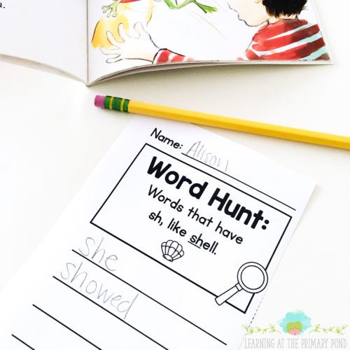During a word hunt, students make important connections between the words they're learning and the books they're reading! I use this activity frequently with my Kindergarten, first grade, and second grade students - it makes a great addition to centers or Daily 5!