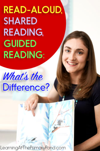 How are a read-aloud, shared reading, and guided reading all different? In this post, I use simple charts to show the differences between all 3 literacy instructional routines! This post helps K-2 teachers better utilize these practices to support their students.
