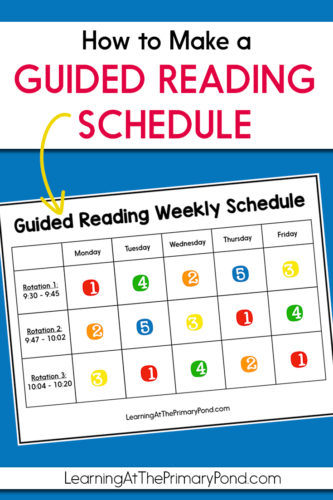 How To Make A Guided Reading Schedule Learning At The Primary Pond