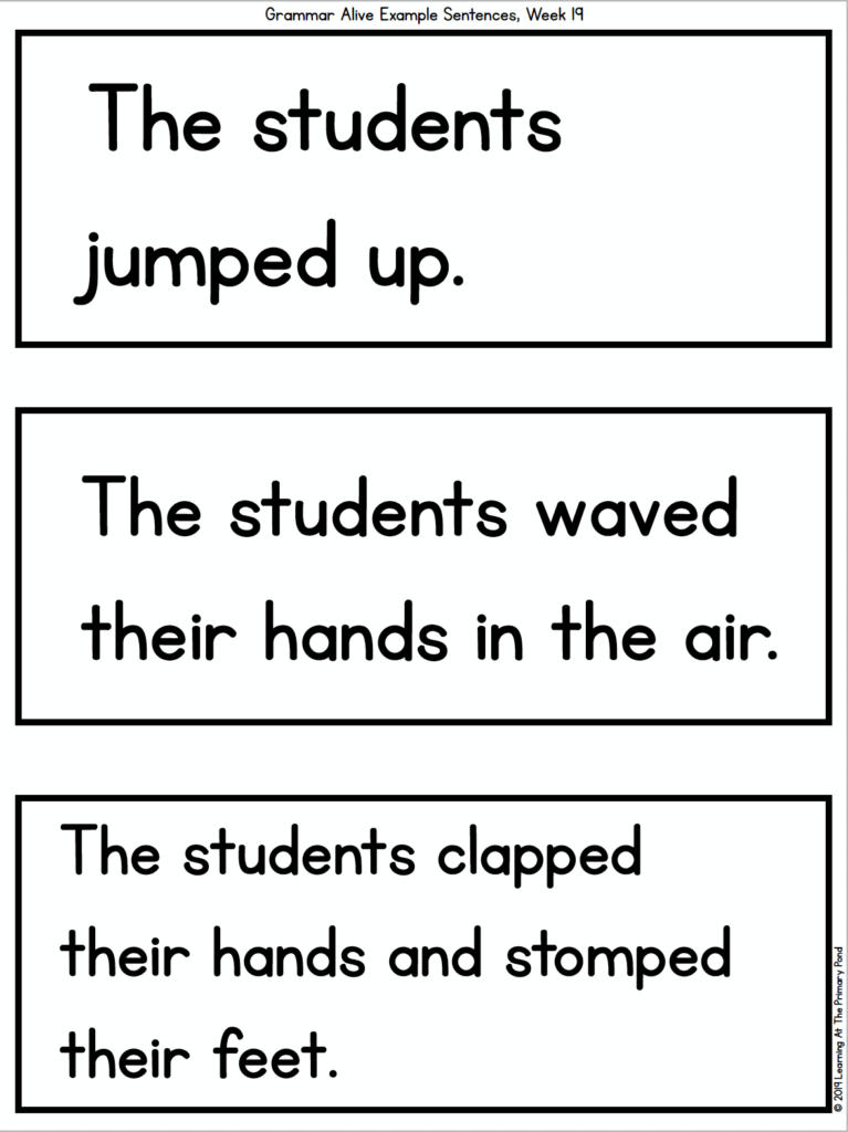 5 Fun Activities For Teaching Verbs In The Primary Grades - Learning At The  Primary Pond