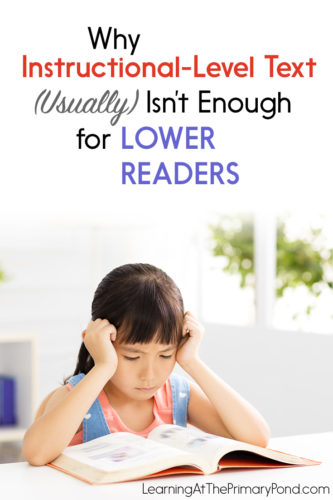 We often have students read instructional level text during guided reading. That's not a bad thing! But it's usually not enough for lower readers to bridge the gap and catch up to their peers. In this blog post, I explain a simple strategy to help struggling readers catch up!