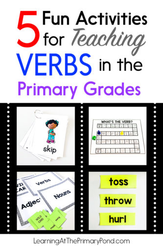 Looking for some fun ways to teach verbs to your Kindergarten, 1st, or 2nd grade students? Whether your students are just starting to learn about the parts of speech or are well on their way to being grammar gurus, these five fun activities will help you teach verbs.
