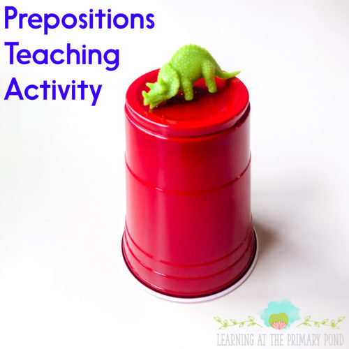 Do you need some low-prep or no-prep activities for teaching prepositions in Kindergarten, 1st grade, or 2nd grade? Here are 5 fun easy activities to use!