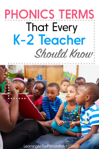 Do all those phonics terms leave you a little confused? This blog post explains just what all those terms mean, with some examples to move from abstract to concrete. I also explain how the parts of phonics fit together to help your students in Kindergarten, first grade, and second grade become better readers and writers!