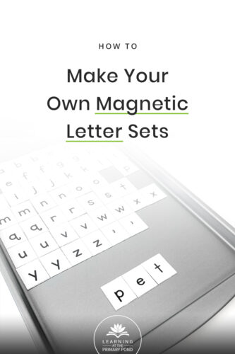 I like my students to have their own full set of magnetic letters for word building activities in Kindergarten, first grade and second grade. If your budget is tight, making your own is a great alternative! Learn how, in 3 easy (and inexpensive) steps!