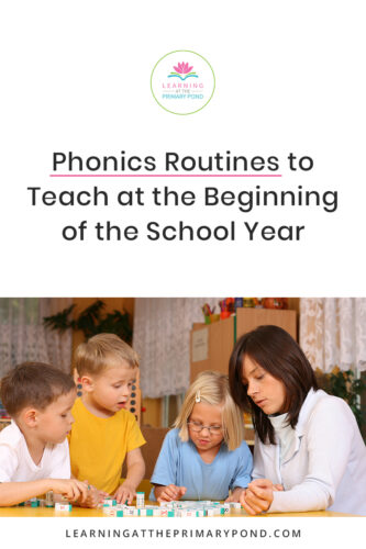Teaching your students routines can be a BIG time saver in the classroom. Find out what routines to teach for phonics and word study instruction at the beginning of the year. Whether you teach Kindergarten, first grade, or second grade, there are plenty of instructional activities for you to use!