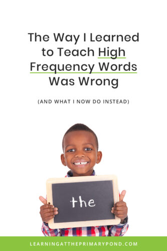 Do you know the best ways to teach high frequency words? This blog post.