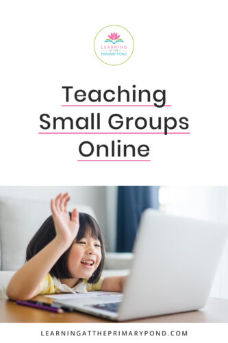 Remote teaching is challenging. Teaching guided reading or reading small groups is a great way to reach your students, but how do you make it work? This post has tips for teaching small groups online in Kindergarten, first grade, and second grade.