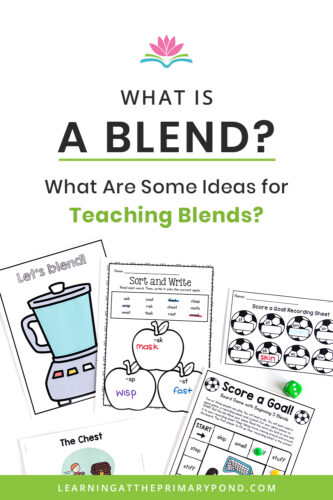 Do you know the difference between a digraph and a blend? Want some fun ideas for teaching blends? In this blog post, you'll learn all about blends and get lots of phonics teaching ideas for Kindergarten, first grade, and second grade!