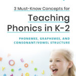 3 Must-Know Concepts for Teaching Phonics in K-2: Phonemes, Graphemes, and Consonant/Vowel Structure