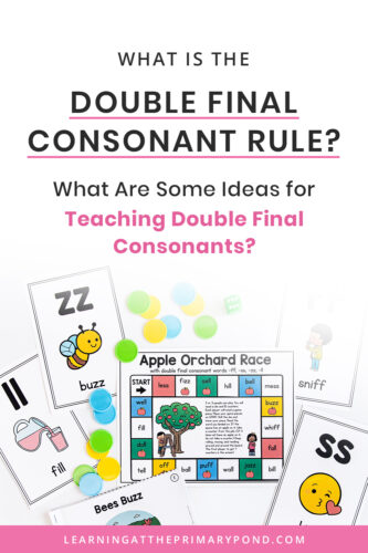 Do you know the phonics rule for doubling a final consonant at the end of a word or syllable? Want some fun ideas for explicitly teaching and modeling it? In this blog post, you'll learn all about double final consonants and get lots of phonics teaching ideas!