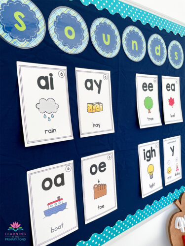 This is how I display vowel teams in first or second grade!