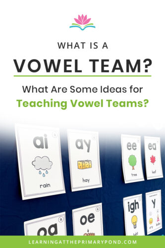 Do you know what vowel teams are? And when to teach them? Want some engaging activities and lessons for your students? In this blog post, you'll learn all about vowel teams and get lots of phonics teaching ideas for Kindergarten, first grade, or second grade students!