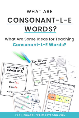 Do you teach consonant-l-e words? This blog post has a super easy trick to help kids decode - and even spell - consonant-l-e words! Read the entire post for ideas about teaching consonant-l-e in second grade and beyond.